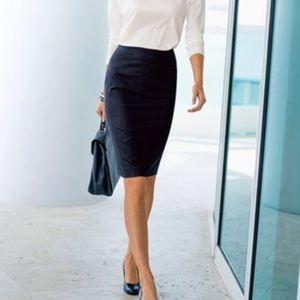 Michael Kors Pinstripe Pencil Skirt